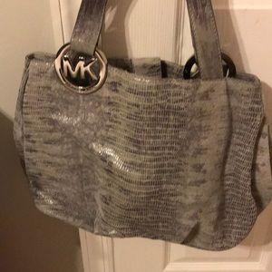 Michael Kors snake skin grey bag